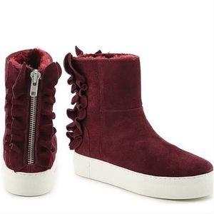 J Slides suede/fur boots